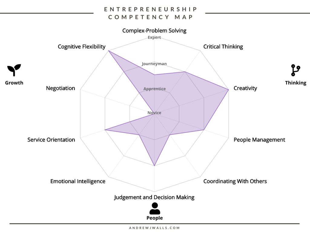 Entrepreneurship Competency Map (Filled)